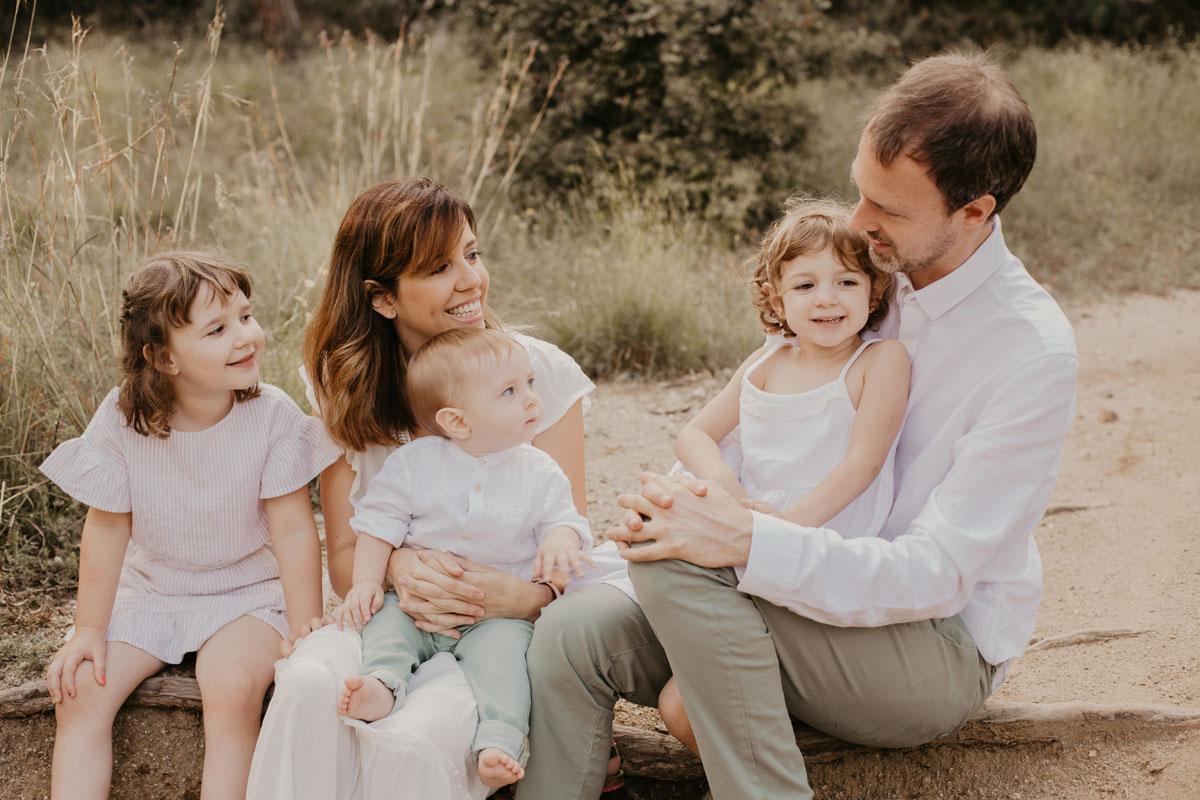 Fotografía de familia en Badalona-Barcelona