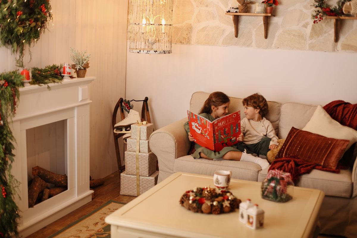 Estudi fotogràfic, fotos Nadal amb nens a Badalona